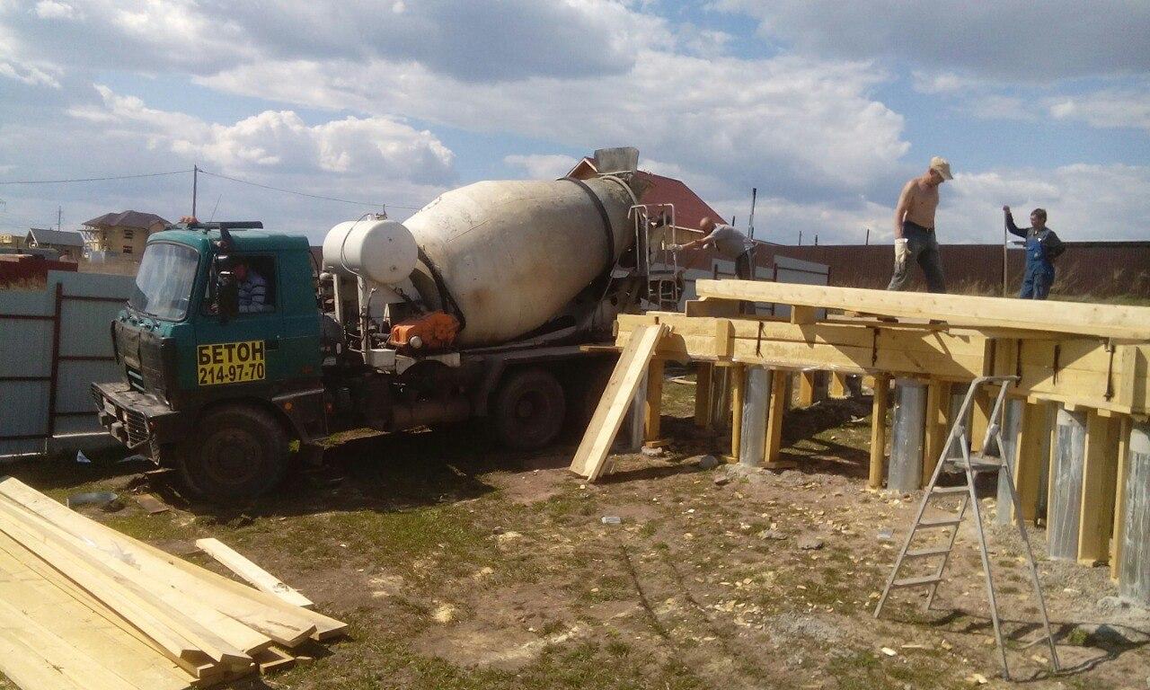 Заливка бетона Ростверка-1