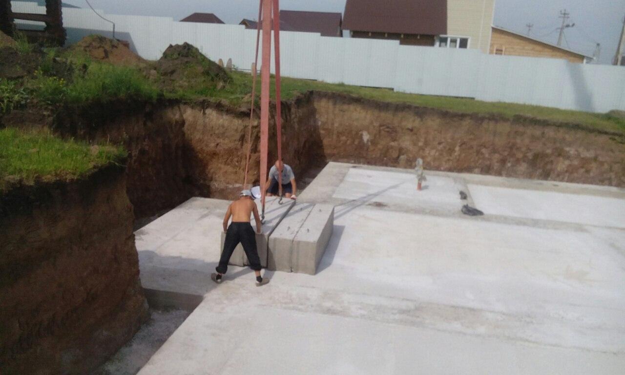 Готовые полы по грунту след этап строительства