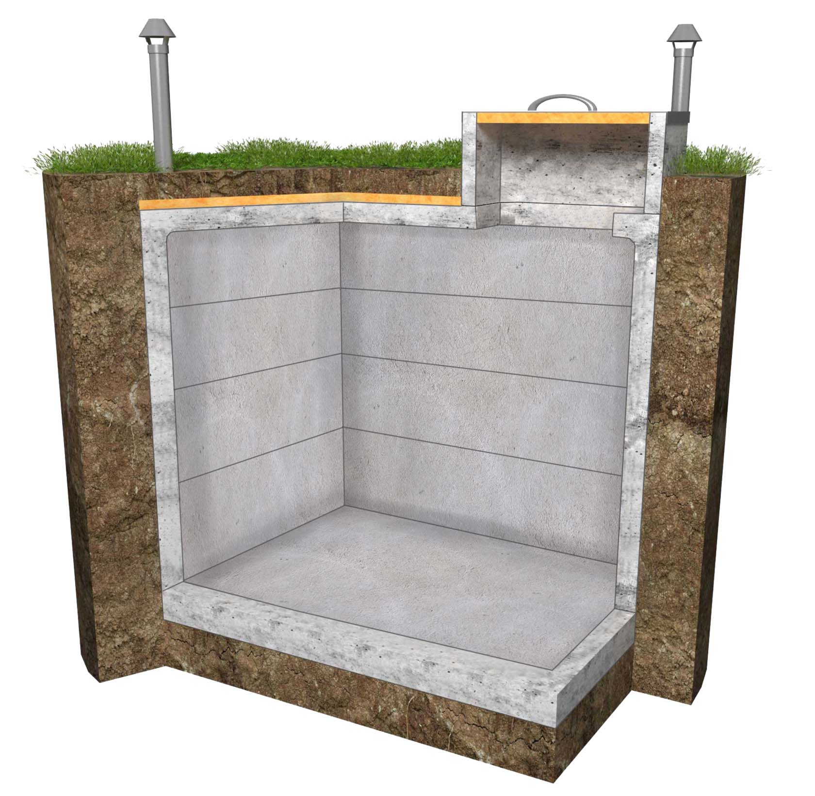бетонный погреб 3х2